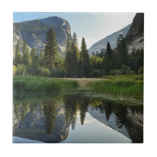 Lago mirror, Yosemite Azulejo Cuadrado Pequeño
