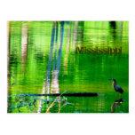 Lago mississippi tarjetas postales