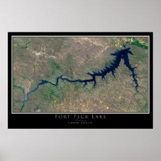 Lago Montana peck del fuerte del arte del satélite