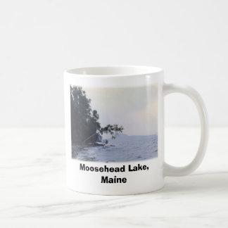 Lago Moosehead, Maine 3 Taza Básica Blanca