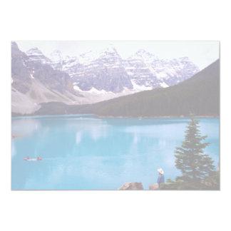 Lago moraine, Alberta, Canadá Invitación