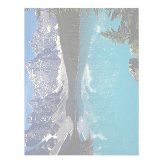 Lago moraine Alberta Canadá Plantillas De Membrete