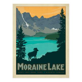Lago moraine, Alberta Canadá Postal