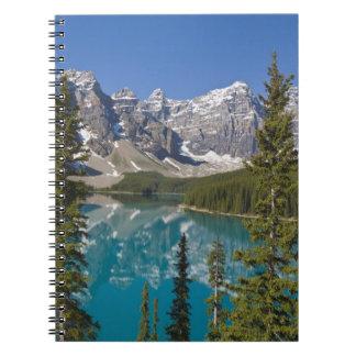 Lago moraine, canadiense Rockies, Alberta, Canadá  Notebook