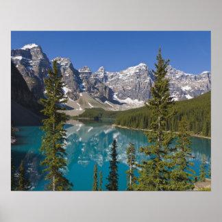 Lago moraine canadiense Rockies Alberta Canadá Impresiones