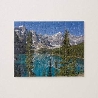 Lago moraine, canadiense Rockies, Alberta, Canadá  Puzzle Con Fotos