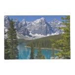 Lago moraine, canadiense Rockies, Alberta, Canadá Tapete Individual