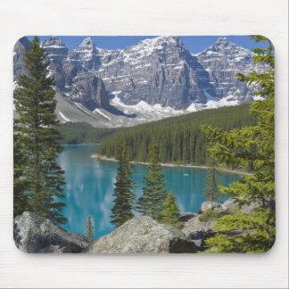 Lago moraine, canadiense Rockies, Alberta, Canadá Alfombrillas De Raton
