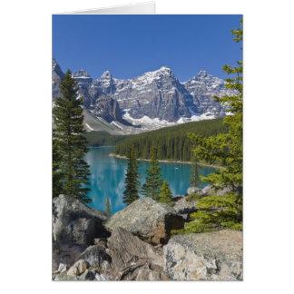 Lago moraine canadiense Rockies Alberta Canadá Tarjeton