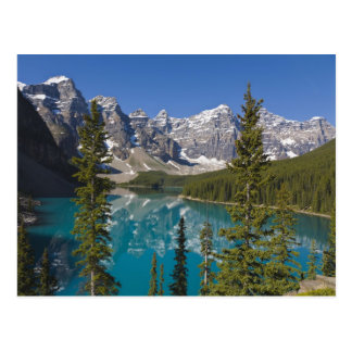 Lago moraine, canadiense Rockies, Alberta, Canadá Tarjetas Postales