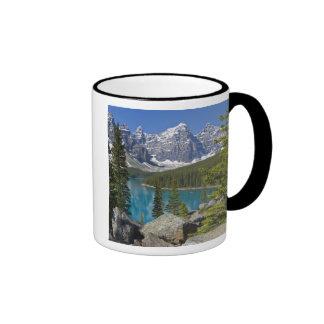 Lago moraine canadiense Rockies Alberta Canadá Tazas De Café