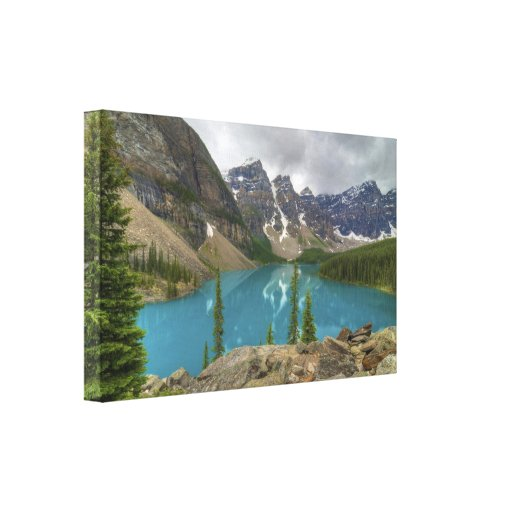 Lago moraine impresiones en lienzo estiradas