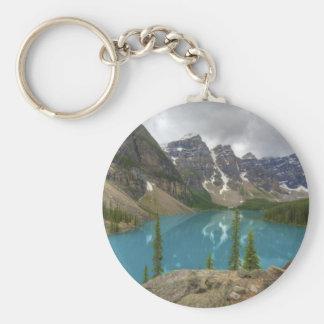 Lago moraine llavero redondo tipo pin