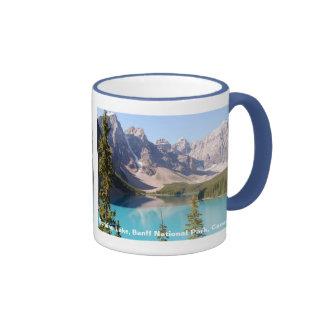 Lago moraine/parque nacional de Banff, Canadá Taza De Café