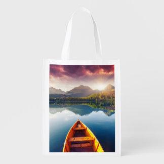 Lago mountain en el parque nacional alto Tatra 3 Bolsas Para La Compra