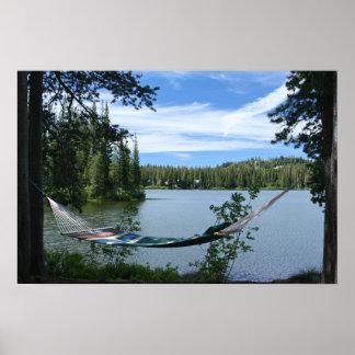 Lago mountain, hamaca póster
