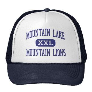 Lago mountain - leones de montaña - alto - Redding Gorras De Camionero