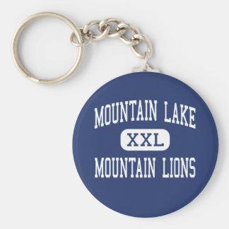 Lago mountain - leones de montaña - alto - Redding Llavero Redondo Tipo Pin