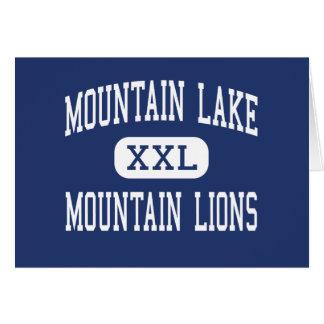 Lago mountain - leones de montaña - alto - Redding Tarjeta De Felicitación