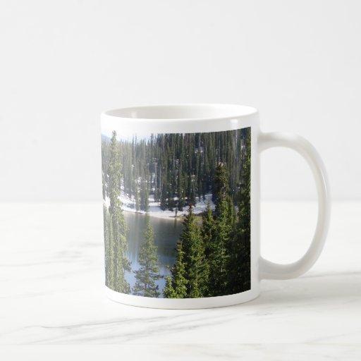 Lago mountain taza de café