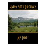 Lago mountain - trigésima tarjeta de cumpleaños fe