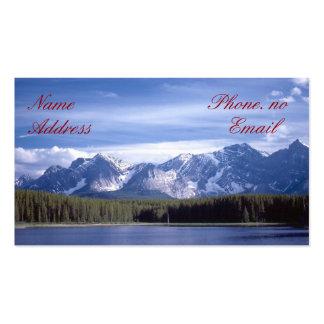Lago mountains rocosas tarjeta de negocio