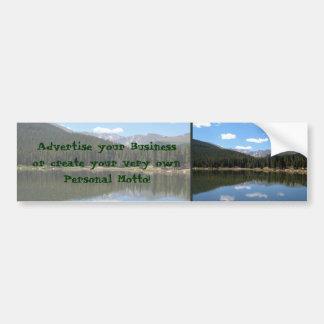 Lago Mt Evans Colorado echo Pegatina Para Auto