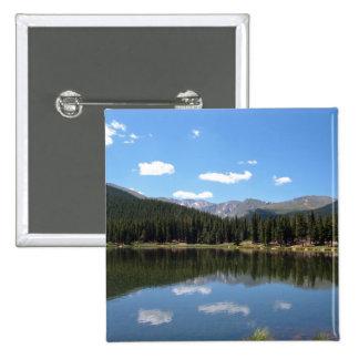 Lago Mt Evans Colorado echo Pin Cuadrada 5 Cm