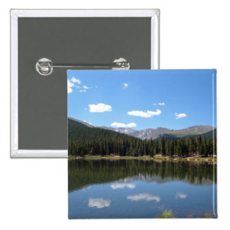 Lago Mt Evans Colorado echo Pin Cuadrado