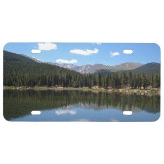 Lago Mt Evans Colorado echo Placa De Matrícula