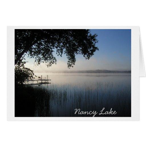 Lago nancy tarjeta de felicitación