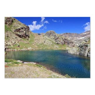 "Lago Nero - Black lake, Italy 5"" X 7"" Invitation Card"
