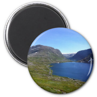 Lago noruego imán redondo 5 cm