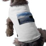 Lago NY Cayuga del cielo azul de la puesta del sol Camisetas Mascota