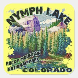 Lago nymph, Parque Nacional de las Montañas Pegatina Cuadrada