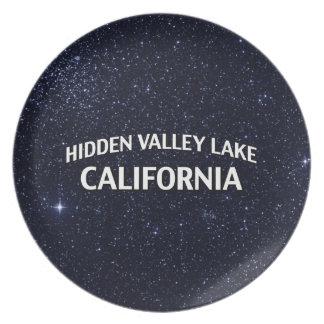 Lago ocultado California valley Platos De Comidas