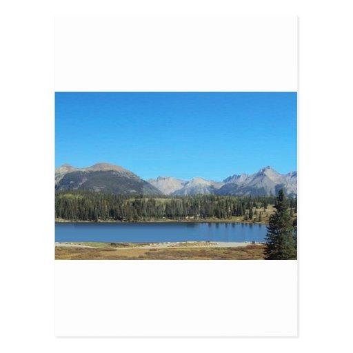 Lago ocultado mountain postales