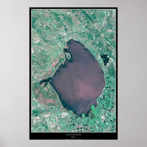 Lago Okeechobee, poster del satélite de la Florida
