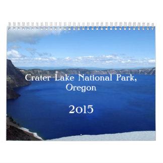Lago Oregon 2015 crater Calendario