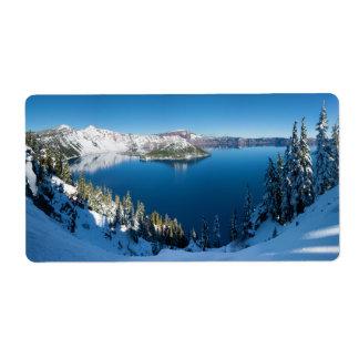 Lago Oregon central del sur crater en invierno Etiquetas De Envío