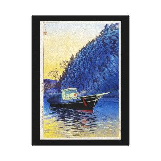 Lago oriental fresco boat de Shiro Kasamatsu del j Impresión En Lona
