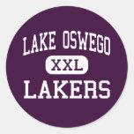 Lago Oswego - Lakers - altos - lago Oswego Oregon Etiquetas Redondas