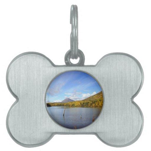 Lago pacífico placas de mascota