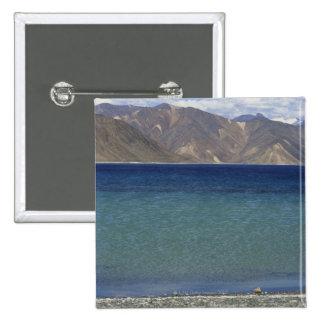 Lago Pangong, Ladakh, la India Pin Cuadrado