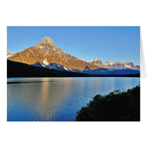 Lago park nacional de Banff Tarjeta De Felicitación