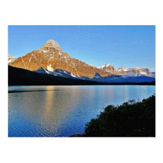 Lago park nacional de Banff Tarjeta Postal