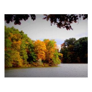 Lago Parr de Sam en otoño Postal