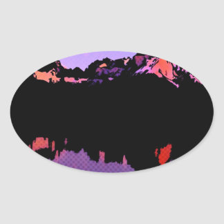 Lago Pehoe in Torres del Paine, Chile 2 Oval Sticker