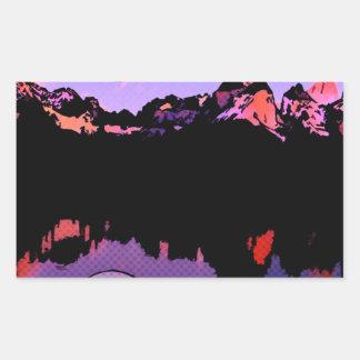 Lago Pehoe in Torres del Paine, Chile 2 Rectangular Sticker