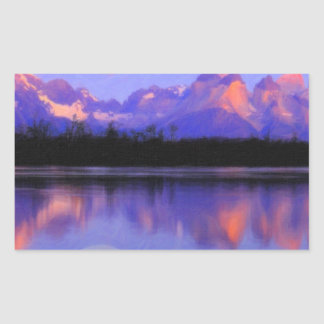 Lago Pehoe in Torres del Paine, Chile Crayons Rectangular Sticker